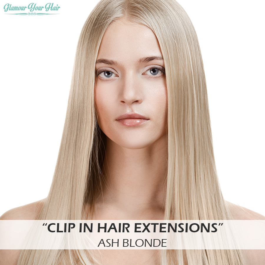 Ash Blonde Clip In Extensions Remy Indian Hair